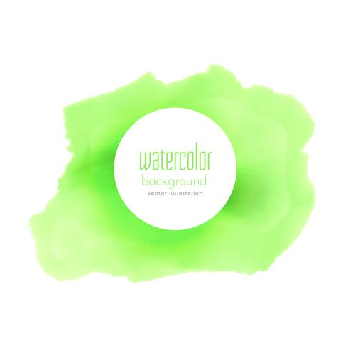 green watercolor stain vector background