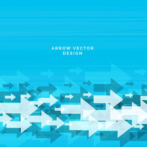 abstract arrow blue background design