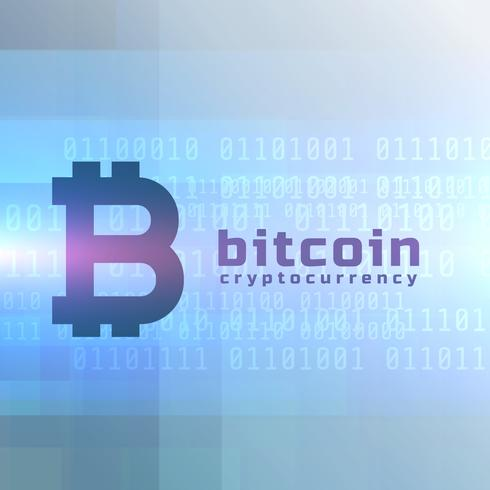 bitcoin currency background vector design