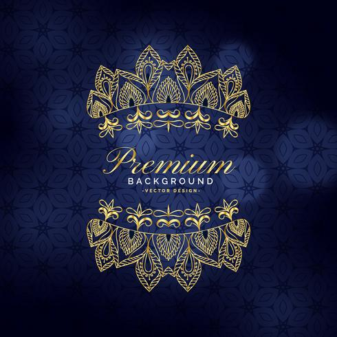 premium golden ornamental decoration background