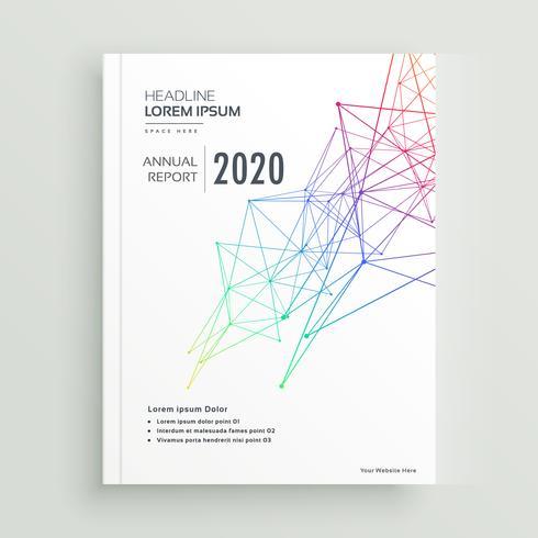 brochure créative ou conception de page de garde de magazine réalisée avec abstra