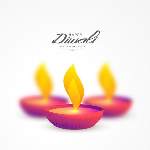 diya colorido vibrante para el fondo diwali