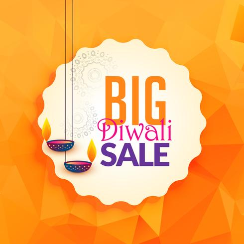 awesome diwali lamps for festival sale background