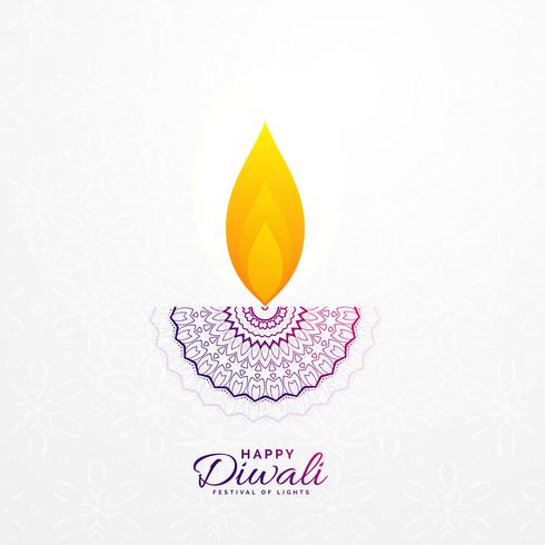 creative diwali diya design for hindu festival