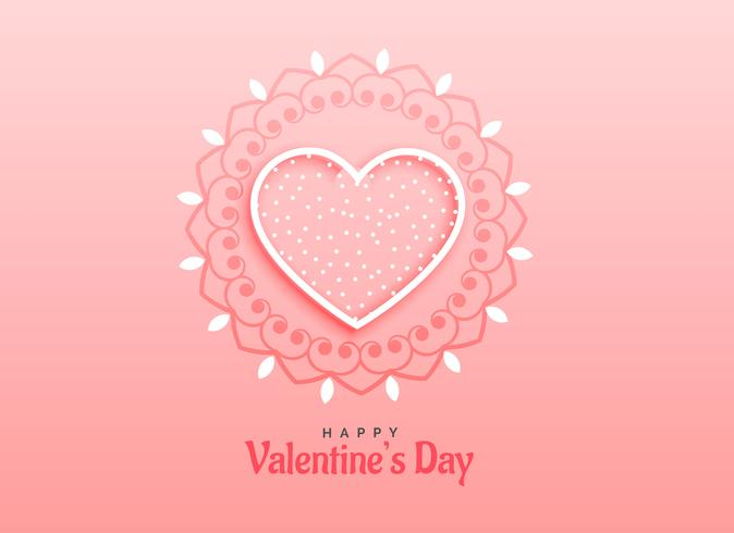 happy valentine's day bacnner design with decorative heart shape