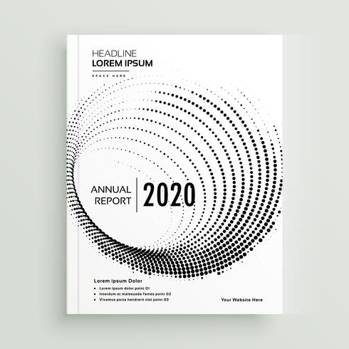 abstract circular dots business brochure design template
