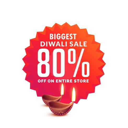diwali sale background with diya lamps