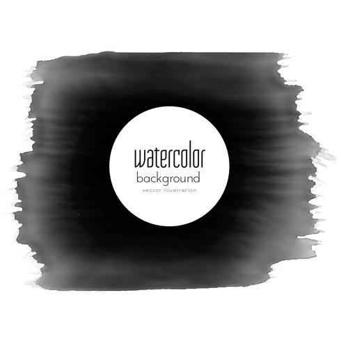 black paint stroke watercolor grunge effect