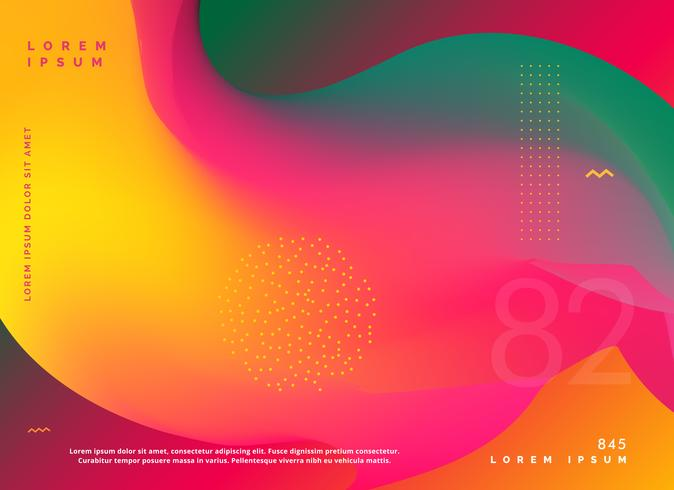 abstract fluid colors gradient shape background