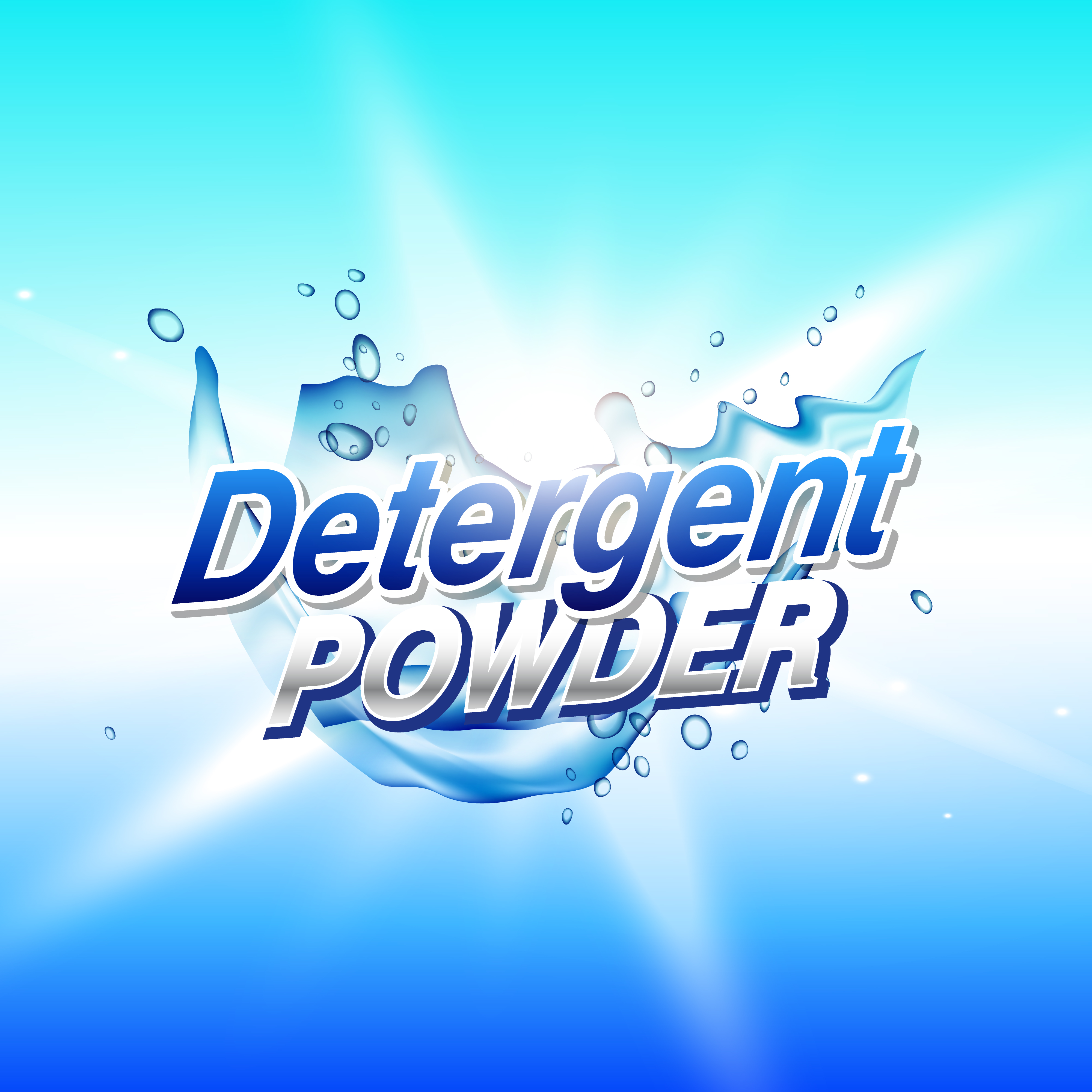 Detergent Powder Cleaning Product Packaging Concept Design