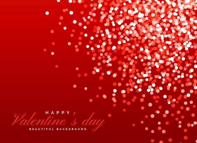Effetto Di Luce Bokeh Sfondo Rosso Glitter Per San Valentino