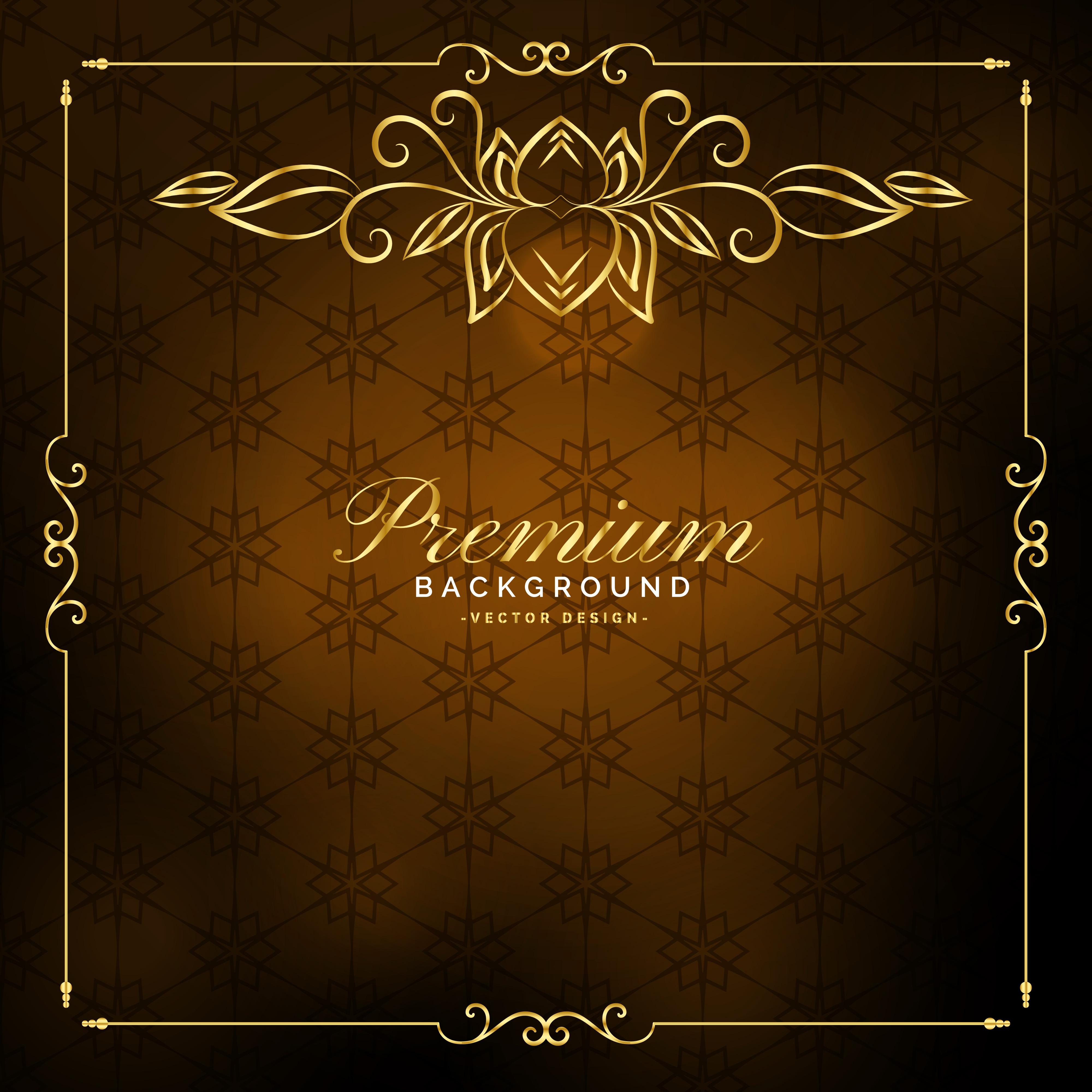 luxury premium golden vintage background design  download