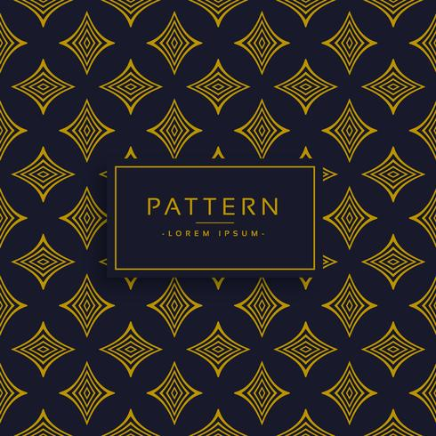 black and gold premium pattern design background