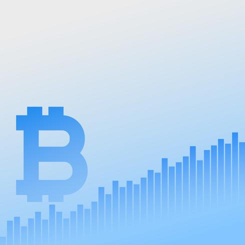 bitcoins growth chart vector business background