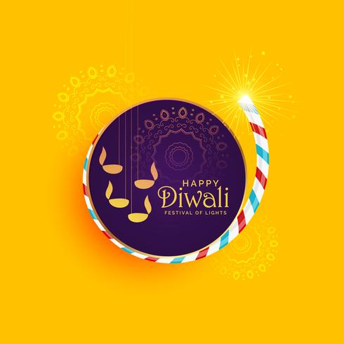 creative illustration of diwali festival of light with burning c