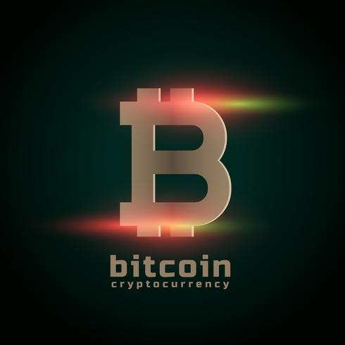 cryptocurrency bitcoin with light effect
