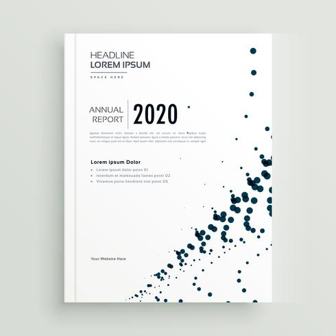 stylish minimal dots abstract brochure design template