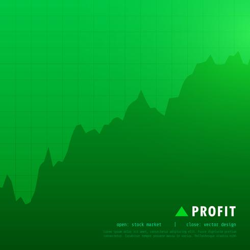 green profit stock market trading background
