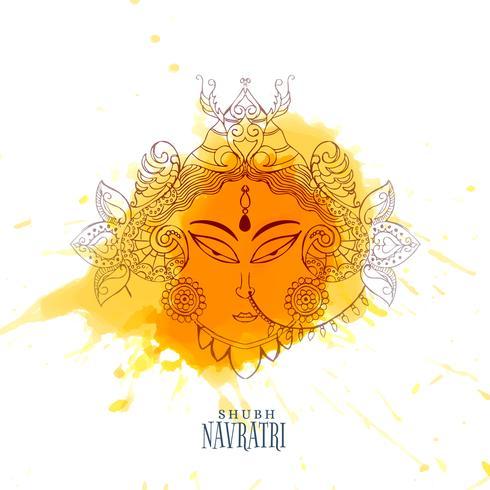 navratri celebration illustration with maa durga face