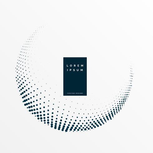 minimal halftone circular frame vector background