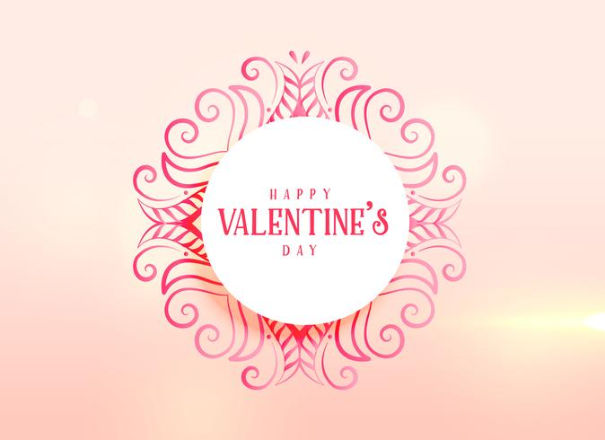 love background for valentine's day with floral decoration