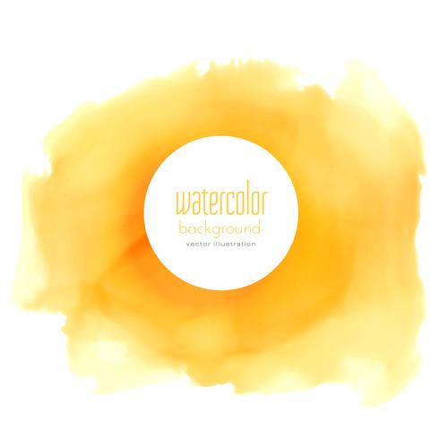 yellow watercolor stain vector background