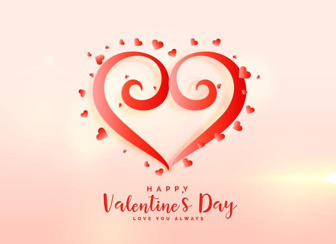 creative valentine's day heart design background