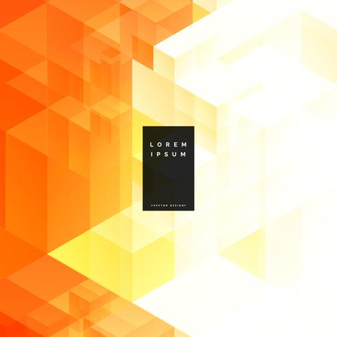 abstract orange triangle geometric background design