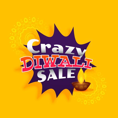 crazy diwali sale vector background design