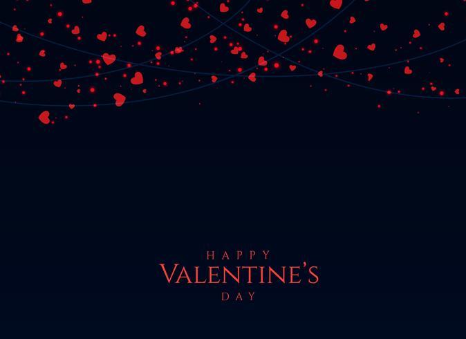 dark background with red hearts for valentine's day