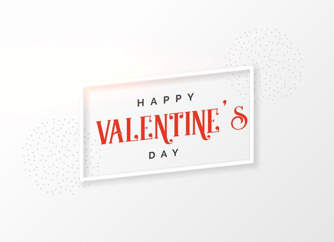 simple happy valentine's day card background