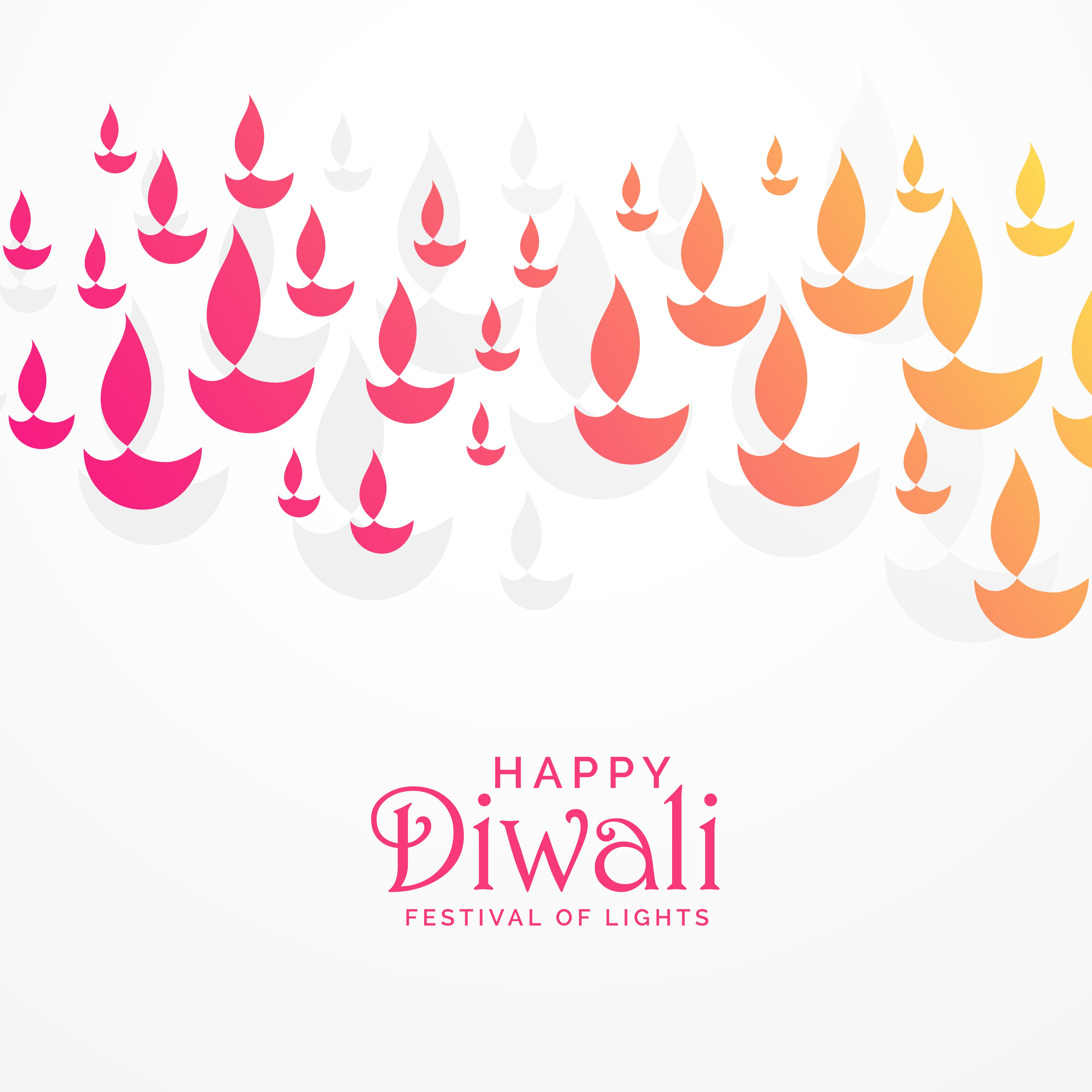 Beautiful Vibrant Diwali Greeting Card Design Download Free Vector