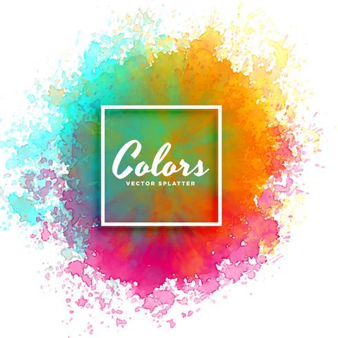 handfärg vattenfärg stänk på vit bakgrund