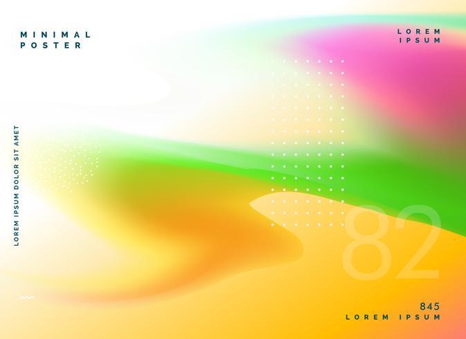 colorful gradient mesh fluid background design