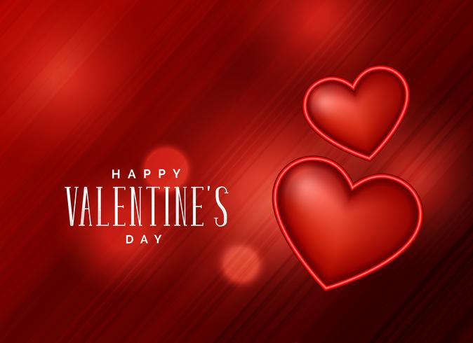 red background with 3d heart design