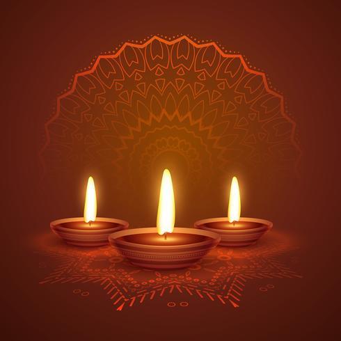 diwali festival diya beautiful background with ornamental decora