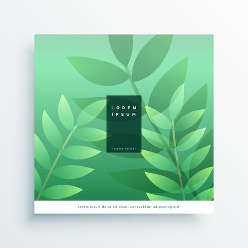 green nature cover page design background
