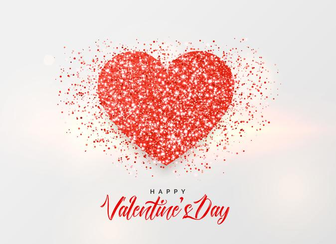 valentine's day background with glitter heart design