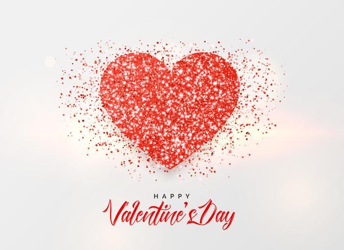 Valentijnsdag achtergrond met glitter hart ontwerp