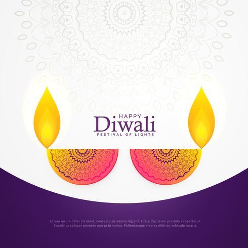 criativo diwali celebração cartaz festival cartão design