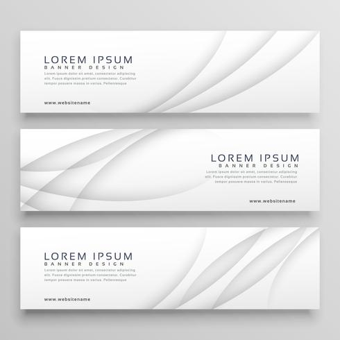 elegant white header with wavy shadow effect