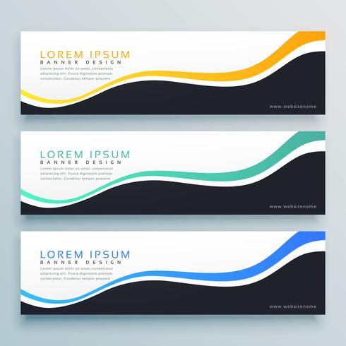 abstract wavy banner design background. website header concept