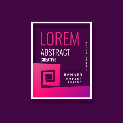 abstract modern banner template design