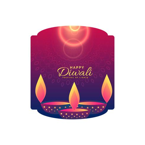happy diwali celebration holiday greeting design