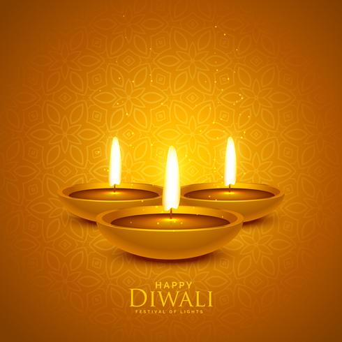 luxury diwali festival background with diya lamps