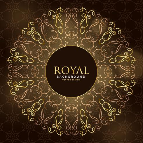décoration ornementale mandala royal doré