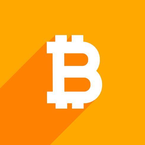 symbole bitcoin sur fond orange