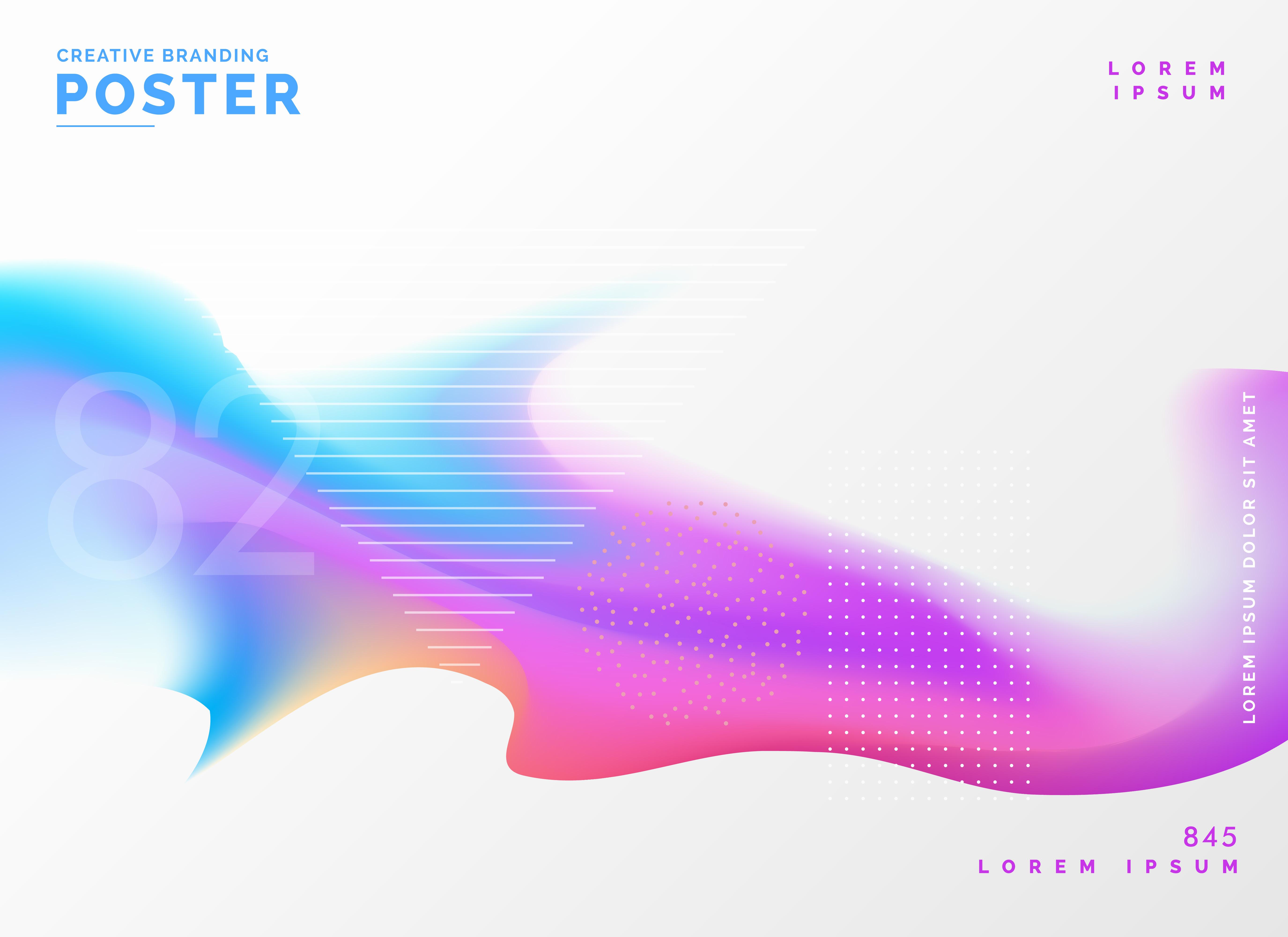fluid color poster design template background