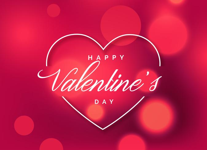 Schönen Valentinstag Gruß Hintergrund Mit Bokeh Effekt Kostenlose