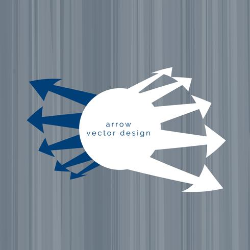 vector de diseño de fondo flecha abstracta